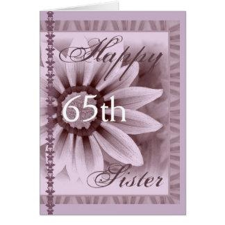 Cartão IRMÃ - 65th aniversário feliz - margarida da