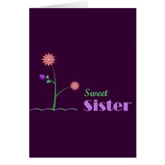 Cartão Irmã doce