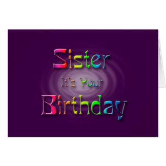 Cartão Irmã é seu aniversário (o aniversário)