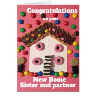 Cartão Irmã e sócio da casa nova