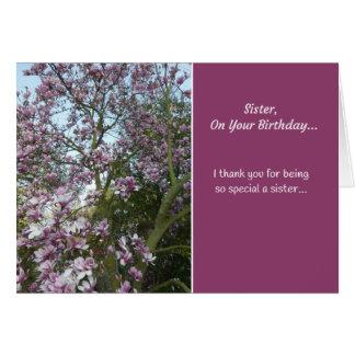 Cartão Irmã, em seu aniversário…