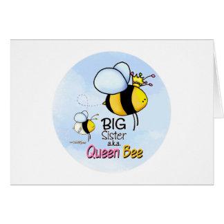 Cartão Irmã mais velha - abelha de rainha