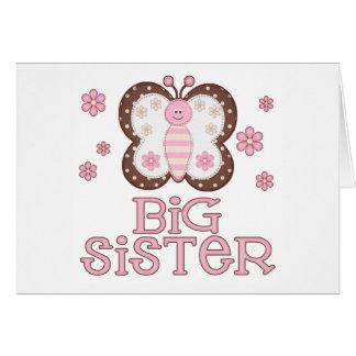 Cartão Irmã mais velha cor-de-rosa da borboleta