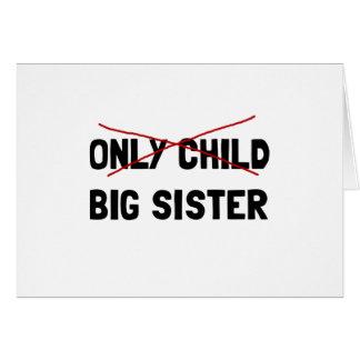 Cartão Irmã mais velha do filho único