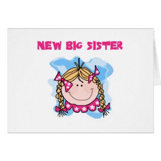 Cartão Irmã mais velha nova da menina loura