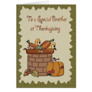 Cartão Irmão da acção de graças