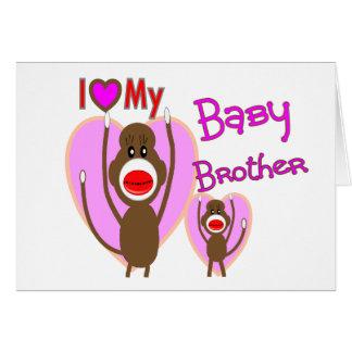 """Cartão Irmão do bebê """"eu amo meu irmão do bebê """""""