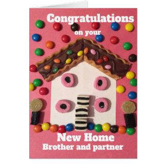 Cartão Irmão e sócio da casa nova