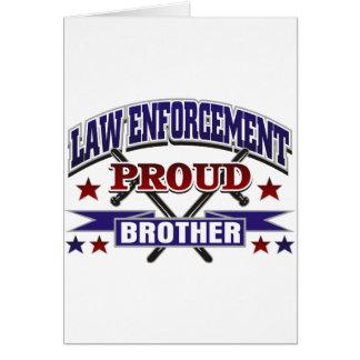 Cartão Irmão orgulhoso da polícia