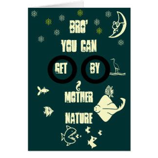 Cartão Irmão você pode obter perto a mãe Natureza