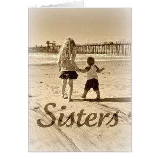 Cartão Irmãs do miúdo