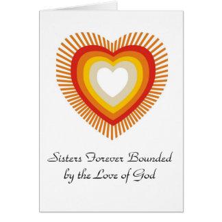 Cartão Irmãs limitadas para sempre pelo amor .....