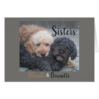 Cartão Irmãs - louro & Brunette
