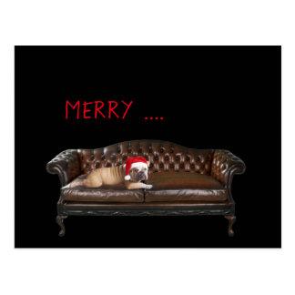 Cartão irónico engraçado do Feliz Natal feliz