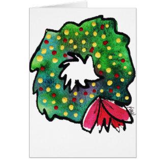Cartão irrisório da grinalda do Natal