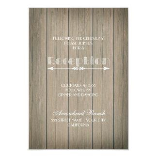 Cartão irrisório rústico da recepção convite 8.89 x 12.7cm