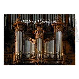 Cartão Irrita o órgão da catedral
