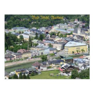 Cartão Ischl mau, Salzkammergut, Áustria