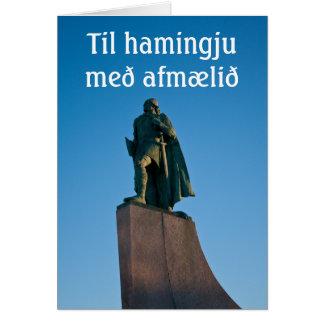 Cartão islandês do feliz aniversario