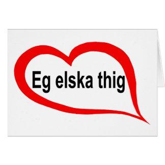 Cartão Islandês eu te amo