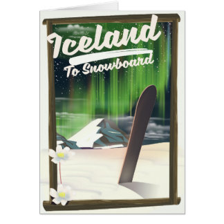 Cartão Islândia ao Snowboard