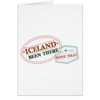 Cartão Islândia feito lá isso