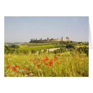 Cartão Italia, Monteriggioni, opinião do campo de