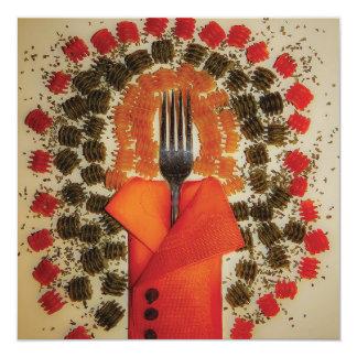 Cartão italiano da cozinha convites personalizado