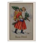 Cartão italiano de Buon Natale do Natal do