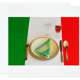 cartão italiano   do convite do cozinhar