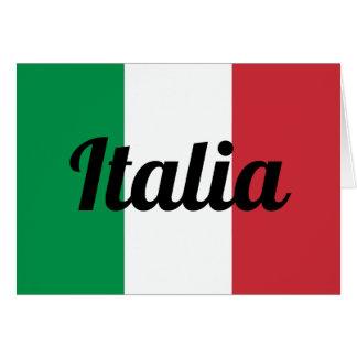 Cartão italiano do costume da bandeira