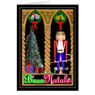 Cartão italiano do Feliz Natal de Buon Natale