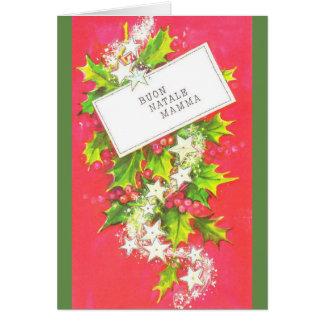 Cartão italiano do Natal da mãe do vintage