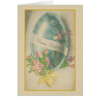 Cartão italiano do ovo da páscoa de Buona Pasqua