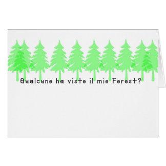 Cartão Italiano-Forrest