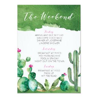 Cartão Itinerário da festa de solteira - Palm Springs