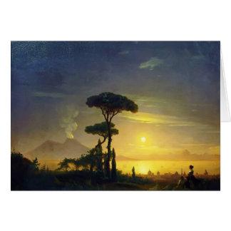 Cartão Ivan Aivazovsky- a baía de Nápoles