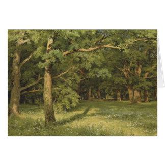 Cartão Ivan Shiskin a floresta que cancela CC0451