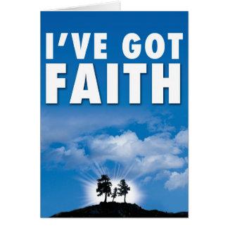 Cartão I've obteve a fé