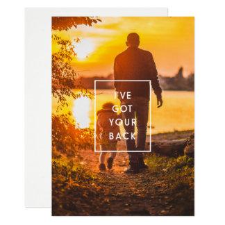 Cartão I've obteve sua foto traseira do dia dos pais do