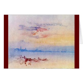 Cartão J.M.W. Turner - Veneza que olha 1819 do leste