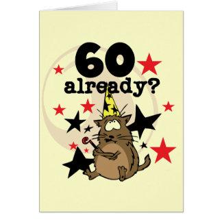 Cartão Já aniversário 60