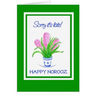 Cartão Jacintos bonito Norooz tardivo, ano novo persa