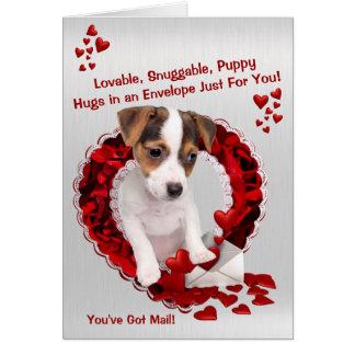 Cartão Jack Russell You've obteve namorados dos abraços