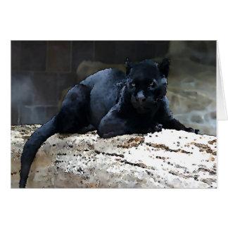 Cartão Jaguar preto