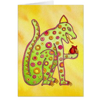 Cartão Jaguar que come o coração (wc amarelo)