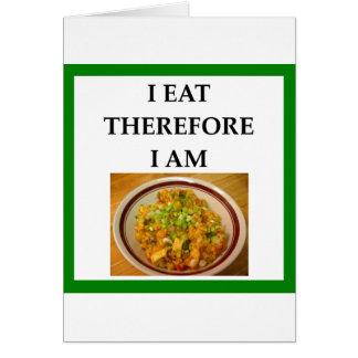 Cartão jambalaya