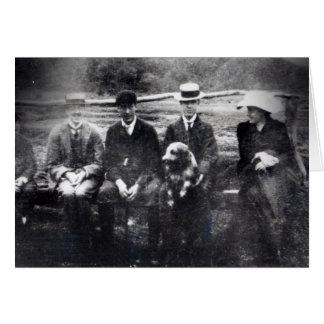 Cartão James e Lytton Strachey com Thoby, Adrian