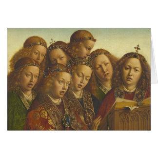 Cartão Jan van Eyck que canta a anjos Ghent CC0835