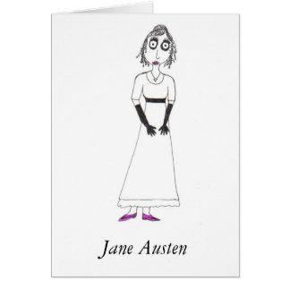 Cartão Jane Austen assustador
